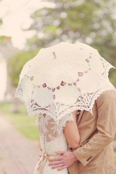 Фотосессия с зонтом. Кружевная свадьба