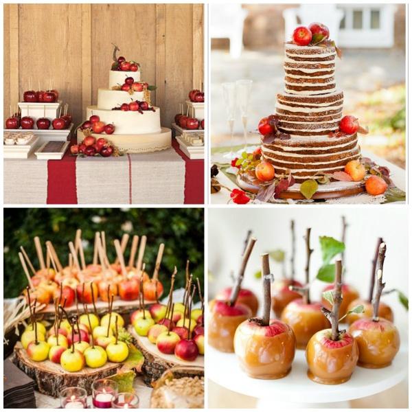 Идеи для яблочной свадьбы