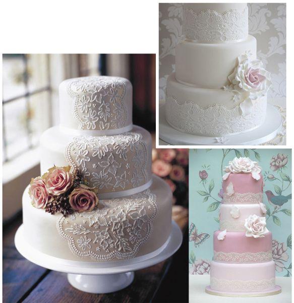 торт на кружевную свадьбу фото