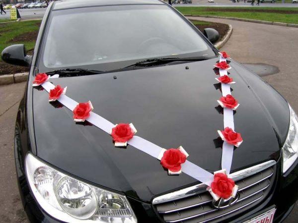 Украшения машины на свадьбу фото