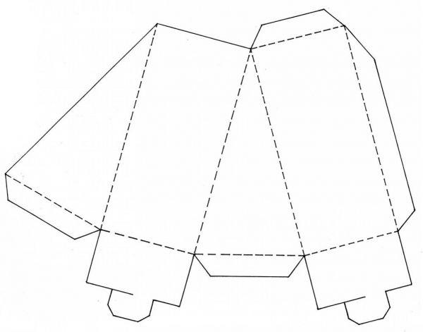 Шаблон торта из бумаги своими руками
