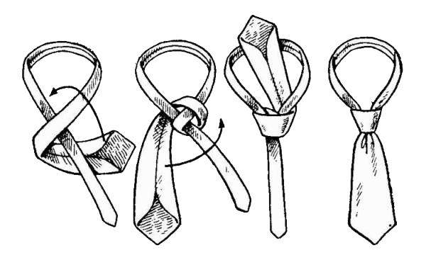 Как вязать галстук схема